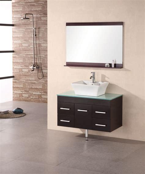 36 Inch Modern Single Vessel Sink Bathroom Vanity with
