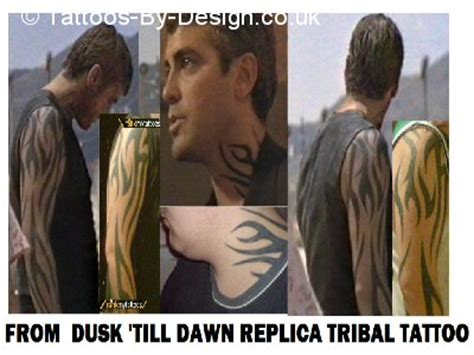 george clooney from dusk till dawn tattoo quot tribal quot cover up rites of passage