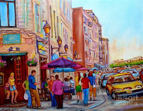 paintings of old montreal streets la creme de la creme