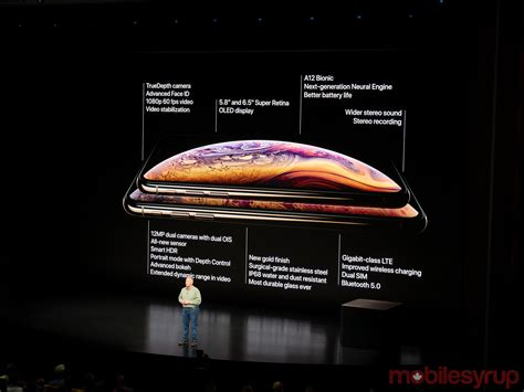 apple announces 5 8 inch iphone xs and 6 5 inch iphone xs max