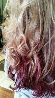 foil placement for purple bangs blonde with burgundy color i love hair pinterest