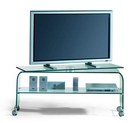 tavolo porta tv porta tv in vetro curvato con piano girevole su ruote 120