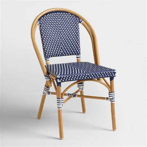 dark navy kaliko french bistro chairs set   world market