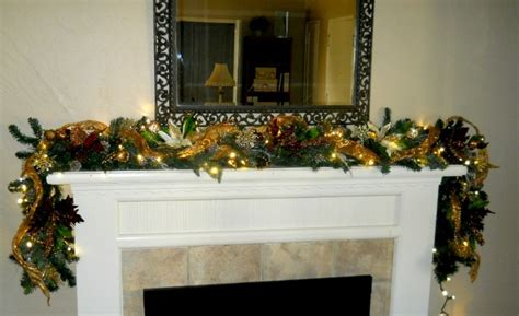 fireplace mantel garland decorations