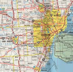 Map Of Detroit Michigan by Detroit Municipal Parking Map See Following Page For