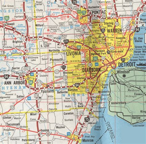 printable detroit area map detroit municipal parking map see following page for