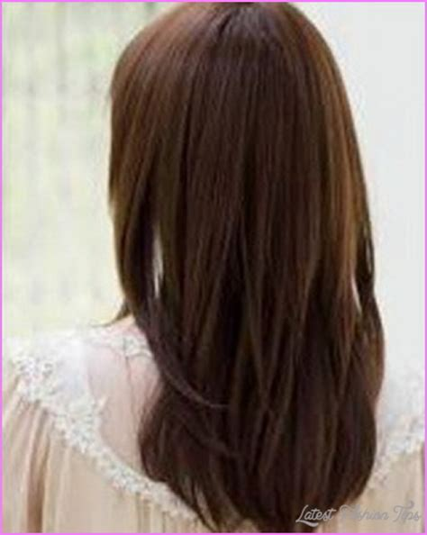 straight back hairstyle layered haircuts for long straight hair back view