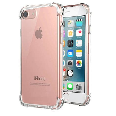 apple iphone   case shockproof silicone gel cover clear protective slim ebay