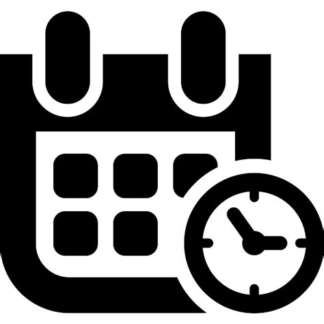 event date and time symbol free interface icons