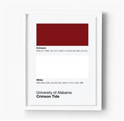 alabama colors alabama crimson tide gameday colors print sproutjam