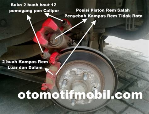 rem cakram lengket pada roda belakang mobil mazda