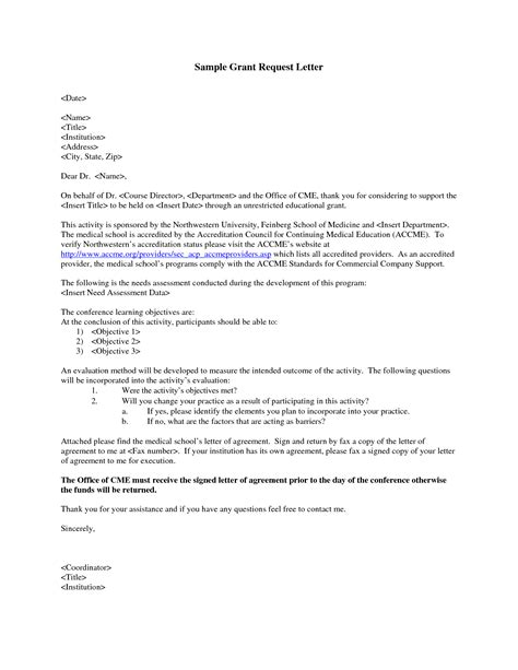 Loan Facility Letter Of Offer grant request letter write a grant request letter