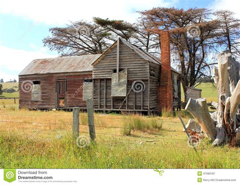 Old Style Farmhouse Plans old and dilapidated australian country homestead stock