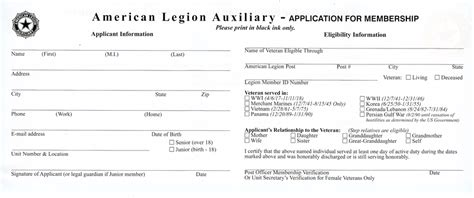 american legion auxiliary membership card template 2017 become a member blessing american legion post 649