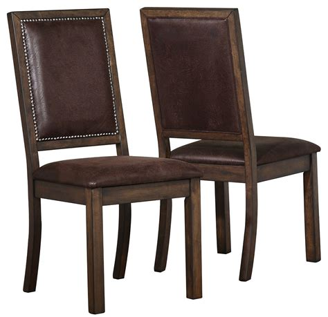 genoa upholstered dining side chair set of 2 from coaster