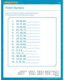 pattern numbers 1st grade math worksheet math blaster