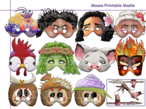 moana boat photo prop unique moana printable masks collection by