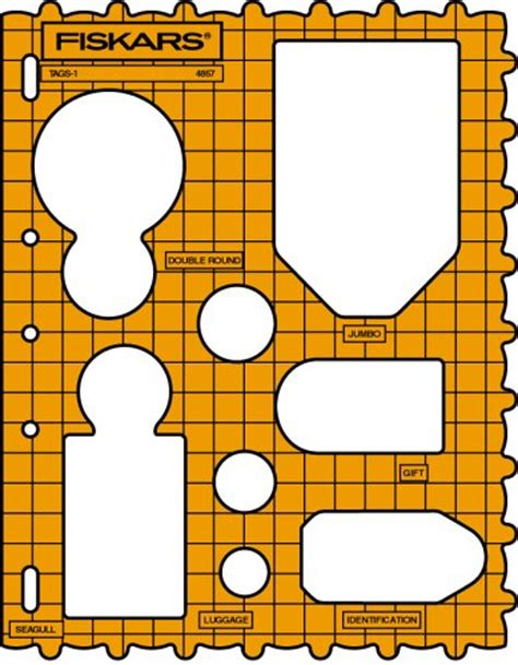 Fiskars Shape Templates fiskars 48577097 shape template tags arts entertainment