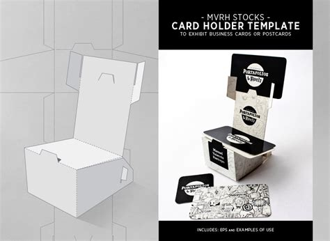template for business card holder card holder template by mvrh on deviantart