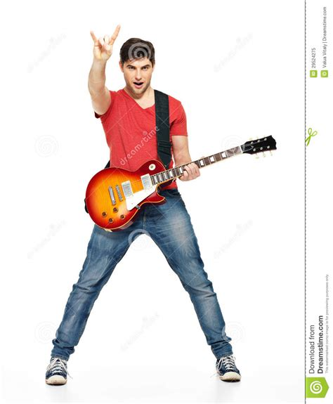 who is the guy that plays guitar and sings on the new direct tv commercials guitarist man plays on the electric guitar stock image