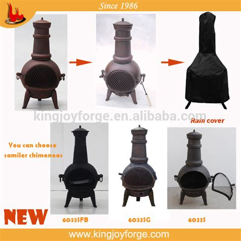 14 quot dia cast iron chiminea bbq pit outdoor w