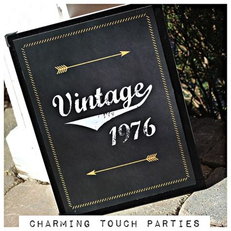 40th birthday sign vintage 1976 11x17 physical
