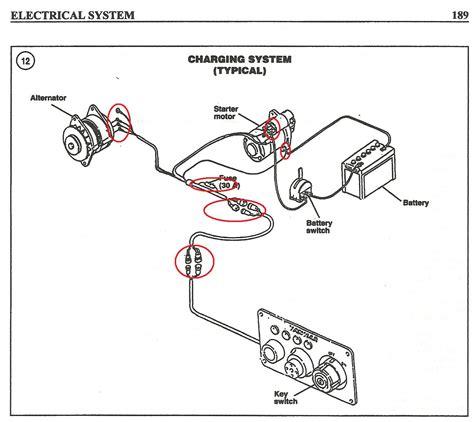 yanmar starter motor wiring diagram wiring diagram with