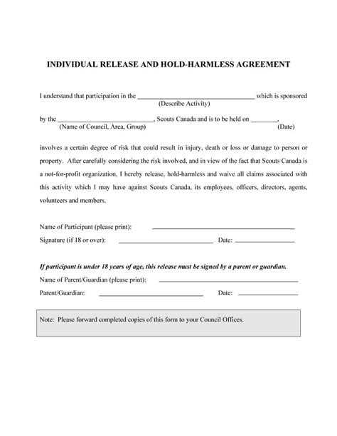41 Free Hold Harmless Agreement Templates Free Free Template Downloads Hold Harmless Agreement Template