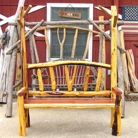 cedar log bench by buckfever14 lumberjocks com rustic cedar mudroom bench by sawdustnsplinters