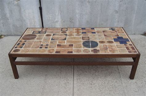 Tiled Coffee Table Coffee Table By Willy Beck With Ceramic Tile Top By Tue Poulsen At 1stdibs