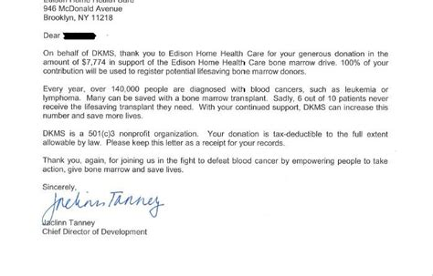 thank you letter to for caring home health care new york