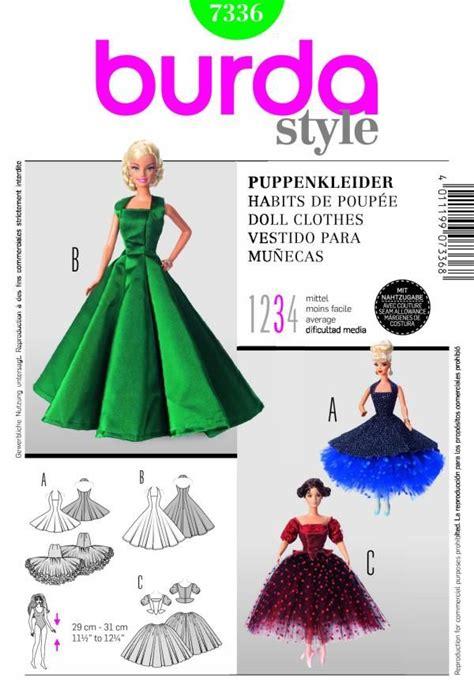 barbie sewing patterns on pinterest barbie patterns burda 7336 barbie doll clothes sewing patterns patterns