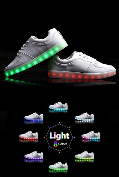 light up shoes white