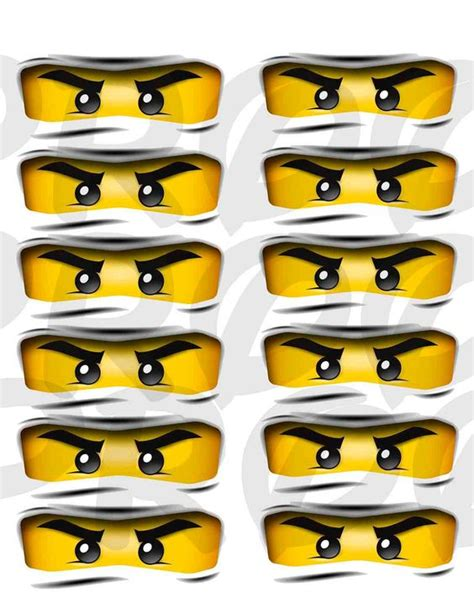 printable lego eyes custom lego ninjago medium eyes for party favors 2 00