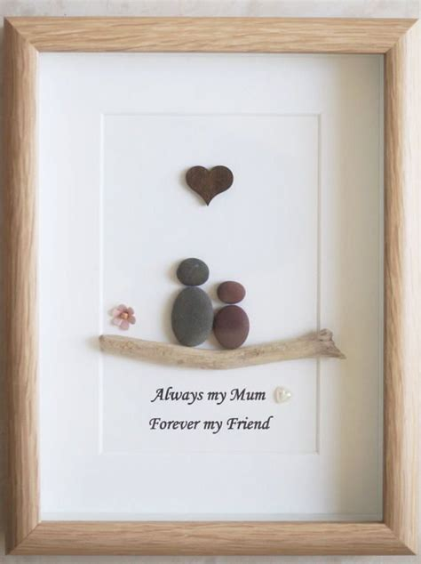 pebble art framed picture mothers day mother  child