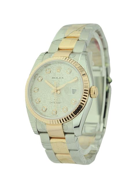 Rolex Oyster Datejust Rg Sepasang 116231 rolex datejust 36mm 2 tone rg ss oyster bracelet fluted bezel essential watches
