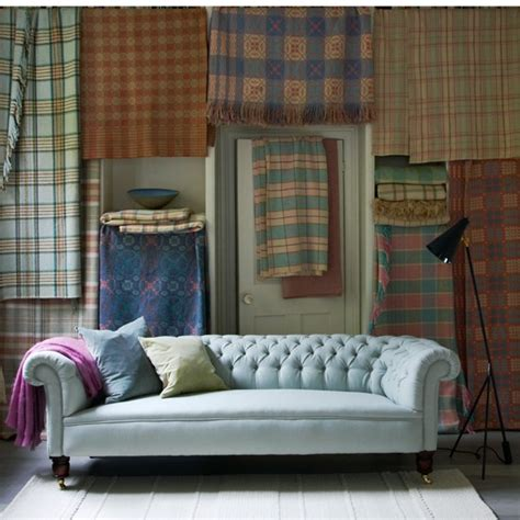 Living Room Ideas With Chesterfield Sofa Plaid Living Room With Chesterfield Sofa Housetohome Co Uk