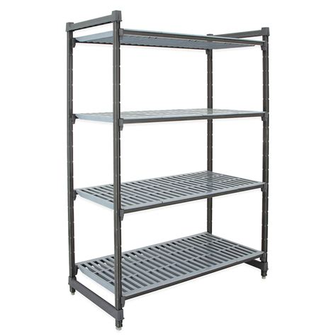 "Cambro CBU184872580 Polymer Louvered Shelving Unit   48""L"