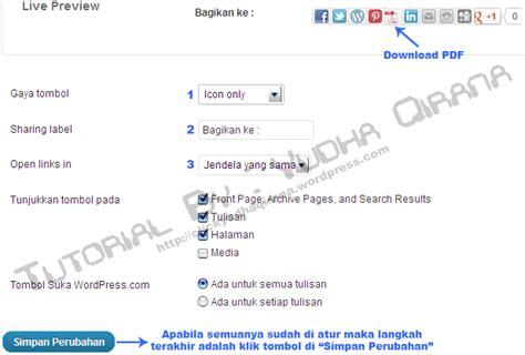 cara membuat tombol share di blog wordpress cara membuat tombol pdf share button untuk wordpress com