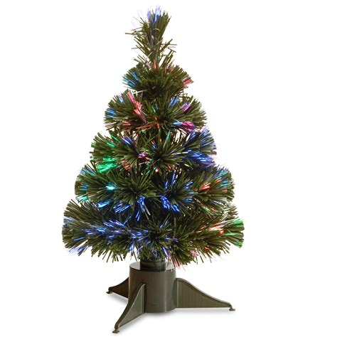 18 inch battery lit christmas tree national tree company 18in battery operated fiber optic tree