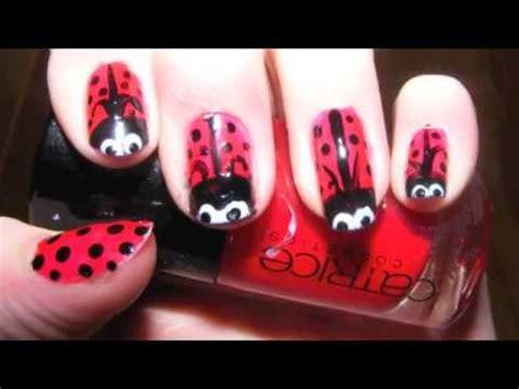 cute easy lady bug nail art youtube easy ladybug nail art tutorial youtube