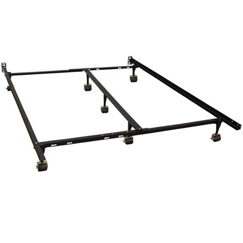 Metal Bed Frame With Wheels Size Heavy Duty 7 Leg Metal Bed Frame With Locking Rug Roller Casters Wheels