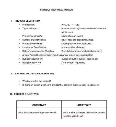 project proposal layout sle 21 project proposal templates pdf doc free premium