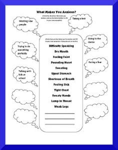 Free Printable Anxiety Worksheets Amp Resources Free