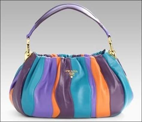 Prada Nappa Stripes Multicolor Tote by Designer Handbag Bible 187 Prada Nappa Stripes Multicolor