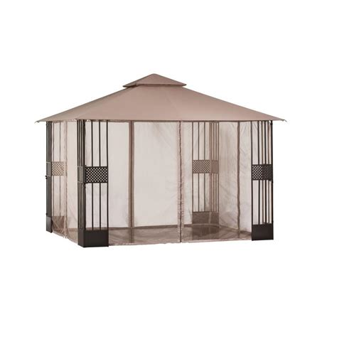 backyard gazebos home depot hton bay gazebos 12 ft x 10 ft gazebo with mosquito