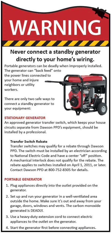 dawson power district 187 portable generator safety