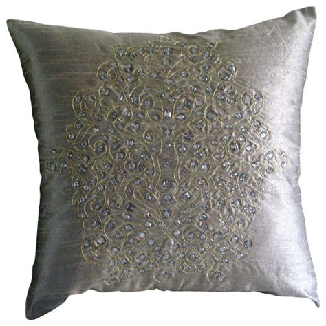 gold and silver pillows silver gold damask silver silk throw pillow cover 22x22