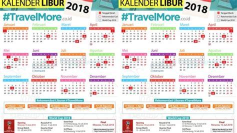 Kalender 2018 Menteri Ayo Rencanakan Liburan Dari Sekarang Ini Daftar Libur Dan Cuti
