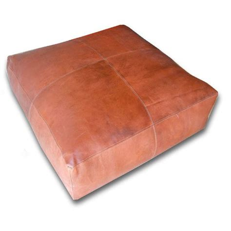Leather Hassock Ottoman Moroccan Pouf Leather Pouf Ottoman Poof Pouffe Pouffes Hassock Footst